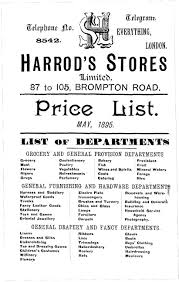 History Victorian Shopping Harrods Catalogue 1895 Price