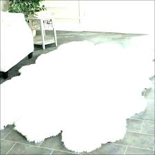 fake fur rug white black faux sheepskin rugs x animal area large size of fau