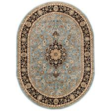 well woven barclay medallion kashan light blue oval area rugs round ...