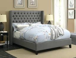 Grey Full Bedroom Set Bed Size Linen With Chrome Trim Home ...