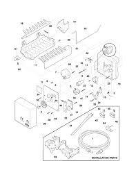 Frigidaire refrigerator parts at ice maker wiring diagram and with