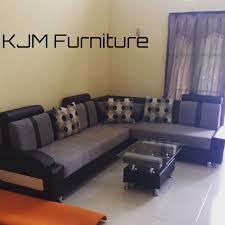 Kjm Sofa Sudut Minimalis Untuk 5 Orangkain Bludru Halusbantal