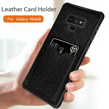 note 8 case card slot leather