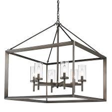 golden lighting s smyth 6 light chandelier metal bronze clear glass 2073 6 gmt