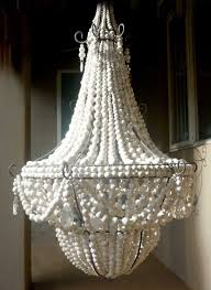 ceiling lights white wood beads and iron basket chandelier flat wooden beads world market wood