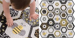 """Sewing baby quilts: so sweet - so speedy! (+ giveaway) - Stitch ... & Sweet-as-Can-Bee-baby-quilt """" Adamdwight.com"""