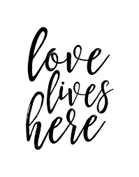 Love Lives Herefamily Signhome Decorlove Signhome Wall Art Simple Posters With Love Quotes