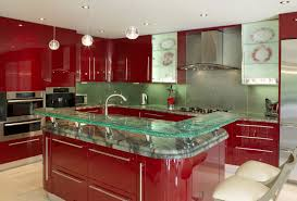 Red Kitchen Pendant Lights Kitchen Elegant Modern Countertops Unusual Material Kitchen
