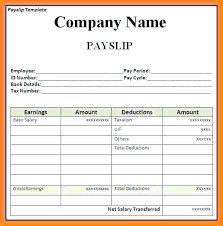 Format Salary Slip Delectable Self Employed Payslip Sample Download Salary Slip Word Format