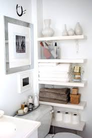 Bathroom Shelves Decorating How To Decorate Bathroom Tiny Bathroom Decorating Ideas With Half