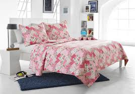 3pc Pink Floral Patchwork Quilt Set - Style # 1044 - Cherry Hill ... & Save 25% 3pc Pink Floral Patchwork Quilt Set - Style # 1044 - Cherry Hill  Collection Adamdwight.com
