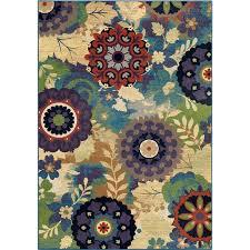 orian rugs bright color fl sassy multi area rug 5 3 x 7 6