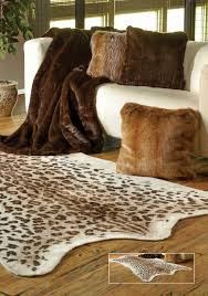 faux leopard hide rug 58 x 93 home love animal