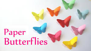 Diy Crafts Paper Butterflies Very Easy Innova Crafts