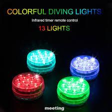 Set 4 Đèn Led Trang Trí Hồ Cá Sử Dụng Pin Kèm Điều Khiển Từ Xa tại Nước  ngoài