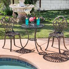 Aluminum patio furniture Oxidized Best Choice Products Cast Aluminum Patio Bistro Furniture Set In Antique Rakutencom Bestchoiceproducts Best Choice Products Cast Aluminum Patio Bistro