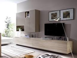 Modern Wall Storage System in Various Finishes with TV Unit and 3 Cabinets  - Contemporary wall storage system with wall mounted cabinets, low cabin