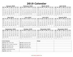 Calendar Year 2019 Printable Calendar Year 2019 Federal Holidays Printable Coloring Page For Kids