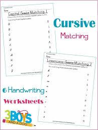 Cursive and Print Letter Matching Printable Worksheets | Print ...