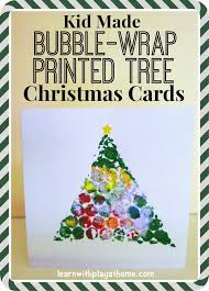 Easy Christmas Tree Card Craft  Preschool Education For KidsChristmas Card Craft For Children