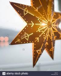 Weihnachtsstern Im Fenster Stockfoto Bild 20473591 Alamy
