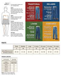 Carhartt Mens Pants Size Chart
