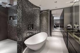 bathrooms with glass tiles. Villa Contemporary Bathroom With Standalone Tub In White Glass Large Tiles For | 900 X 599 Bathrooms