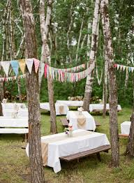 picnic wedding reception. Outdoor picnic wedding Love the banners Inspiration quotes