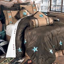 bedroom western bedding turquoise collection lone star comforter set king decor and black queen size sheets