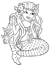Small Picture Coloring Print Free Mermaid Coloring Pages New At Interior Online