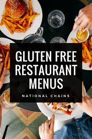 240 Gluten Free Restaurant Menus You Must Check Out In 2019