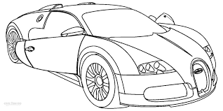 Free printable cars and vehicles to color and use for crafts and various learning activities. Printable Bugatti Coloring Pages For Kids