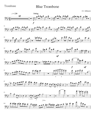 Blue Trombone Wip Sheet Music For Trombone Download Free