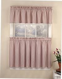red striped kitchen curtains