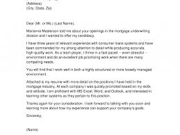 Generous Mortgage Underwriter Resume Cover Letter Contemporary