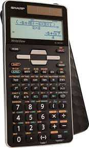 com sharp calculators el w516tbsl advanced scientific calculator with writeview 4 line display solar power electronics