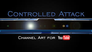 youtube gaming channel art. Delighful Channel Controlled Attack Gaming YouTube Channel Art Template With Youtube O