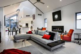 Red Sofa Design Living Room Architecture Adorable Red Accents Decorating Ideas In 2013 With