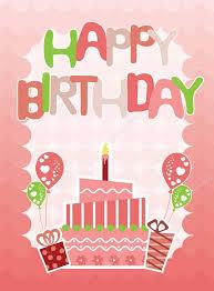 tarjetas de cumplea os para ni as tarjeta rosa feliz cumpleaños para niñas archivo imágenes