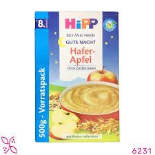 Bột ăn dặm chúc ngủ ngon vị táo lúa mì cho bé 8 tháng - Hipp –  labeautedebebe