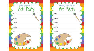 part invites art party invitations printables birthday parties pbs parents