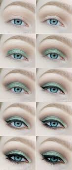 10 makeup tutorials step by for green eyes