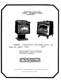 earth stove a 1 stoves fireplaces earth stove 1002ht 1001ht owner s manual