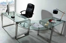 large glass office desk. Picturesque Architecture And Home: Design Attractive Wonderful Modern Glass Office Desk Furniture Of Large I