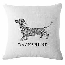 Dachshund Home Decor Cartoon Dachshund Dog Throw Pillow Case Cushion Cover Home Decor