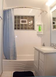 Bathroom:Cool Small Bathroom With Sheer Blue Curtain As The Shower Cool Small  Bathroom With