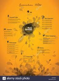 Creative Cv Template Yellow Paper Stock Photos Creative Cv