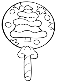 Small Picture Christmas Lollipop Candy Coloring Page Holiday coloring