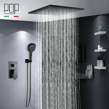 matte black shower head fall canada australia and handle