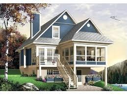 plans sloped lot house plans walkout basement elegant hillside home bright and modern small sloping